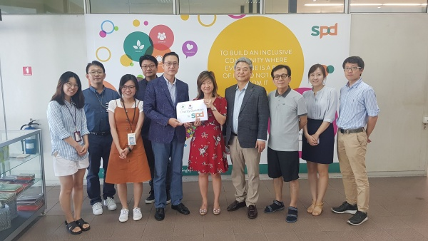 자선행사 기부금 SPD(싱가포르장애인협회) 전달 및 봉사활동 펼쳐
