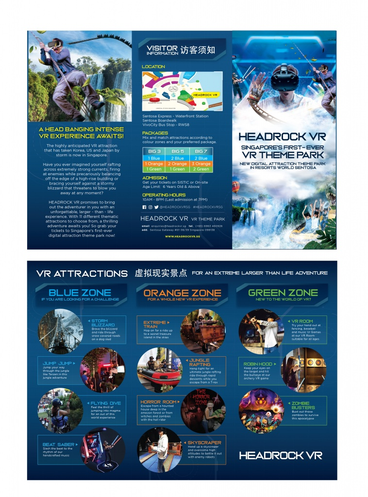 헤드락 VR – 리조트월드센토사 오픈 (싱가포르 최초이자 최대의 VR Theme Park)