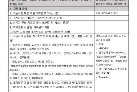 (200601) MOM제공 사업장 운영재개 전 체크리스트 / Safety Management Measure 안내